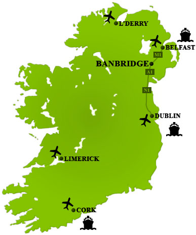Directions to Golfkeel Cottages, Self Catering Accommodation, County Down N.Ireland